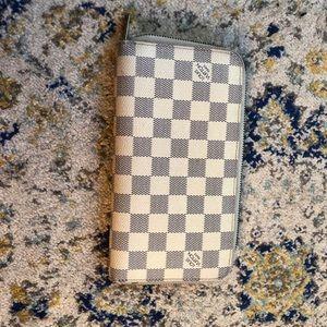 Louis Vuitton Damier Azur Zippy Monogram wallet